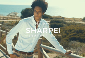 Campaña lanzamiento de Sharpei Leather CO.